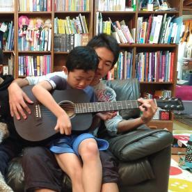 Taiyo with guitar